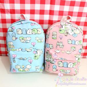 日本san-x墻角角落生物sumikko卡通學生書包背包 帆布雙肩包親子 寶貝計畫