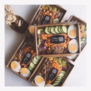 新年好禮 一次性沙拉盒牛皮紙打包盒外賣紙盒快餐盒水果盒壽司盒