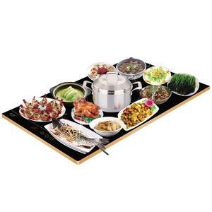 2018新款飯菜保溫板熱菜板保溫盤家用餐桌加熱暖菜板可調溫WD  初語生活館