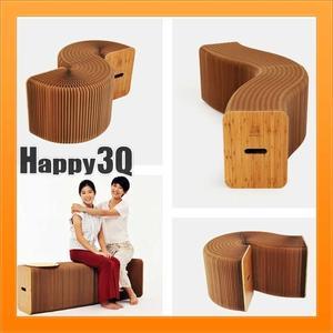 現代簡約休閒創意環保伸縮可變形輕便家具紙家具茶几圓凳長凳-兩款【AAA1198】預購