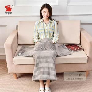 電熱毯 電熱護膝圍毯子暖腳套神器蓋腿加熱坐墊辦公室小型電熱毯取暖褥子220V-三山一舍