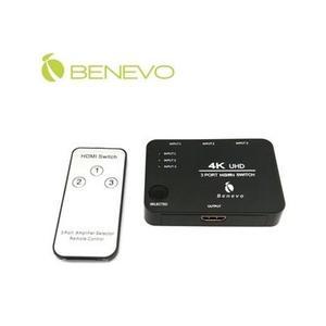 新竹【超人3C】BENEVO 智慧4K版 BHS341K HDMI1.4 三進一出影音切換器 輸出距離達5米