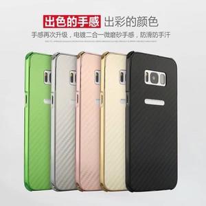 防摔碳纖維 三星 Galaxy S8 Plus 手機殼 三星 S7 edge 防摔膠墊 碳纖維背蓋 金屬邊框 全包邊 保護殼