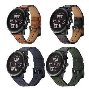小米 華米2AMAZFIT智慧運動手錶帶 華米2S米動真皮手環帶替換腕帶 雙11