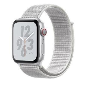 Apple Watch Series 4 Nike+(GPS) 銀色鋁金屬錶殼搭配雪峰白色運動型錶環 44mm /6期零利率