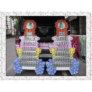 (YA-31)追思弔慰花禮喪禮告別式悼念敬輓用7層罐頭塔/罐頭座4500元/對全台可配送免運費
