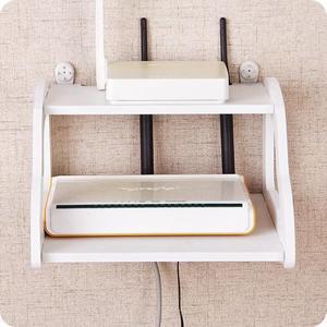 鏤空雙層路由器收納架 客廳電視機頂盒架免打孔墻上置物架 格蘭小舖