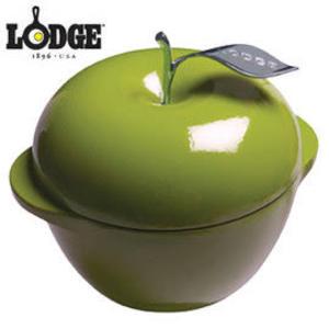 丹大戶外用品【LODGE】3QT綠蘋果琺瑯鑄鐵鍋9吋