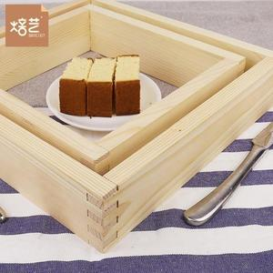 【狐狸跑跑】外銷 烘焙模具 木質長崎蜂蜜蛋糕模 烤箱用日式可拆卸木框模ML20