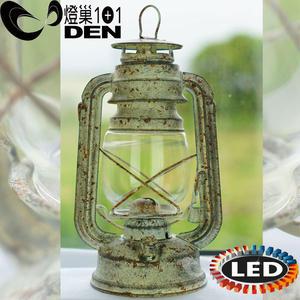 loft風LED電子仿舊油燈-24cm 可當露營緊急照明 桌燈 【燈巢1+1】燈具。Led居家照明、桌立燈 01036044