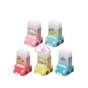日本SAN-X 角落生物 香味橡皮擦 附汽車造型收納盒 1入 五款隨機 ☆艾莉莎ELS☆