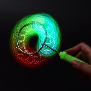 新款七彩圓形軌道發光悠悠球溜溜球兒童玩具