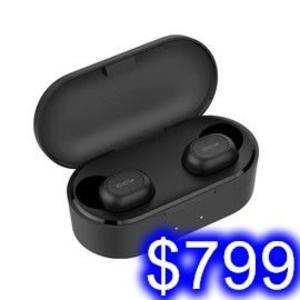 QCY原廠T2C 藍芽5.0雙耳分離式藍牙耳機 雙耳通話聽歌 雙耳機含充電座 自動配對 Hi-Fi音