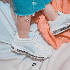 IMPACT Nike Air Max 97 White 白 淺藍 淡藍 白子彈 3M反光 女鞋 921522-104