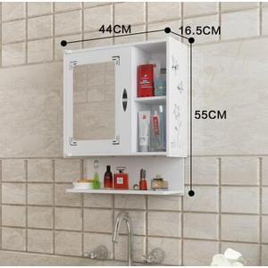 浴室櫃小戶型浴室鏡櫃洗手間衛生間鏡子(樂置家居)