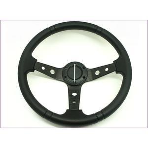 248A008  【好康汽機車商品專櫃】AK-8901方向盤 35cm黑款單入   方向盤  改裝