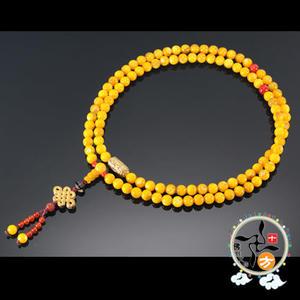 轉經輪+黃金硨磲石108念珠7mm   【十方佛教文物】