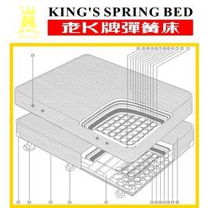 老K牌彈簧床-緹花A級下墊 (一體成型)-5*6.2