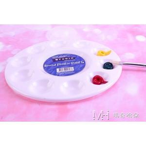塑料調色盤兒童DIY數字國畫丙烯水粉水彩紡織顏料調色板器   瑪奇哈朵