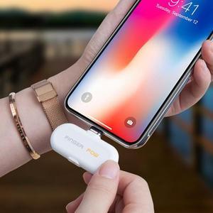 Airpods磁吸行動電源 磁性膠囊行動電源應急手機蘋果6/7/8/x  蘑菇街小屋  ATF