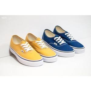 ISNEAKERS Vans era Authentic 海軍藍 黃色 情侶 經典基本款 男女鞋 VN0A38EMQA0