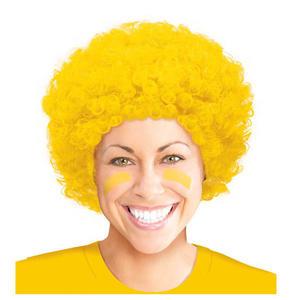 爆炸頭假髮1入-日光黃