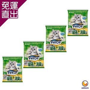 Unicharm日本消臭大師 消臭礦砂 綠茶香5L X 4包入【免運直出】