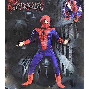 X射線【W370009】蜘蛛人 2件式肌肉裝+面罩,萬聖節服裝/化妝舞會/派對道具/兒童變裝/表演/帕克