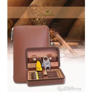 cohiba雪茄剪打火機雪茄盒套裝古巴進口雪鬆木便攜式雪茄保濕煙盒LX