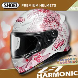 [中壢安信]日本 SHOEI Z-7 彩繪 HARMONIC 櫻花 TC-7 粉白 全罩 安全帽 小帽體