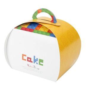 [巧紛樂高]手提十字小蛋糕盒/野餐盒  (50入/組)