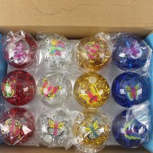 LED發光彈力球 65mm 彩帶+蝴蝶水球/一個入{促39} 發光球 YF13625.YF13374
