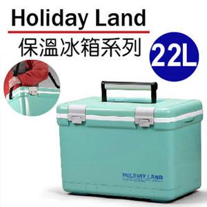 日本伸和假期冰桶-藍-22L 日本原裝進口 保冰釣魚 冰桶冰磚冷藏箱 保冰包保冷劑 加厚保溫保冰箱