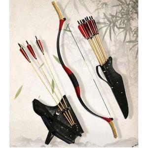 牛皮清長稍明稍傳統反曲弓狩獵弓箭休閒戶外練習【藍星居家】