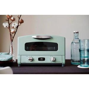 日本Sengoku Aladdin 千石阿拉丁「專利0.2秒瞬熱」4枚焼烤箱(附烤盤) 湖水綠