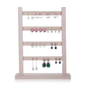 耳環架實木耳釘架收納架耳墜飾品架子創意首飾架掛架珠寶展示道具