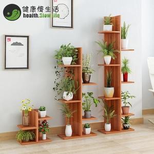 花架 簡約現代多肉植物多層花架陽台客廳辦公桌上迷你階梯花架置物架