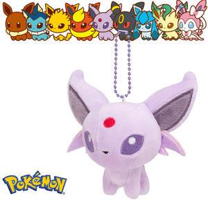 太陽伊布 太陽精靈 娃娃吊飾 玩偶 Q版 Pokemon 寶可夢 神奇寶貝 日本正品 該該貝比日本精品 ☆