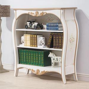 【森可家居】伊麗莎白歐式4尺書櫃 8HY484-05 收納櫃 書櫥 歐法式古典仿舊鄉村風