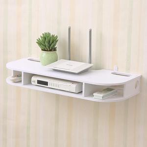 免打孔電視機頂盒置物架壁掛客廳墻上臥室墻壁無線收納盒 快速出貨 免運費