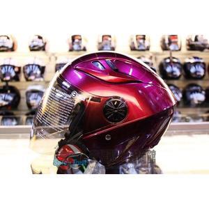 [中壢安信]GP5 232 糖果紫 安全帽 半罩式安全帽 雙層鏡片設計 透氣抗菌內襯