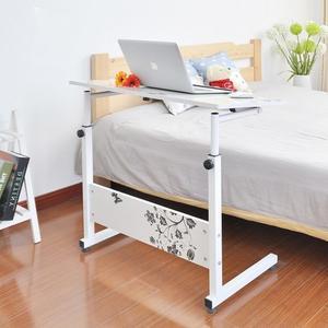 大升級版-大桌面可傾斜可升降移動電腦桌 80*40簡易床邊書桌【AE09051】JC雜貨