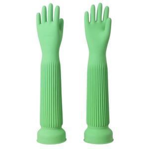 臺灣康乃馨超長58cm加厚園藝洗車洗衣清潔乳膠橡膠手套