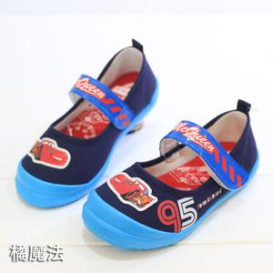 閃電麥坤 disny 魔鬼氈軟膠底休閒鞋 帆布鞋 迪士尼 橘魔法 Baby magic童鞋 便鞋 兒童幼稚園室內鞋