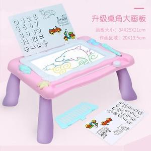 兒童畫板彩色磁性畫畫板寫字塗鴉男女寶寶玩具桌子支架多功能大號wy