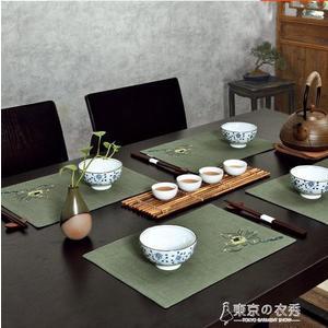中國風 中式布藝餐墊中國風杯墊茶墊隔熱刺繡桌墊餐布防滑西餐墊 【東京衣秀】