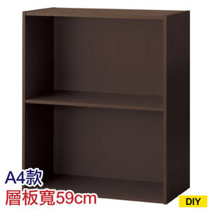 【DIY】61cm彩色櫃 COLOBO WIDE A4-雙層櫃 DBR NITORI宜得利家居