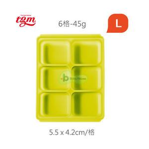 BabyHouse 愛兒房 Tgm FDA白金矽膠副食品冷凍儲存分裝盒-L(6格)【佳兒園婦幼館】