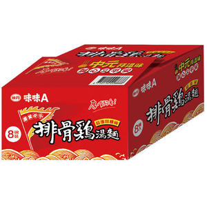 味味A排骨雞碗麵中元特規75G*8入/箱【愛買】