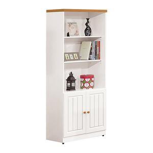 【森可家居】頌伊2.5尺書櫃 8ZX851-5 開放式書櫥 收納櫃 白色 北歐 英式鄉村風
